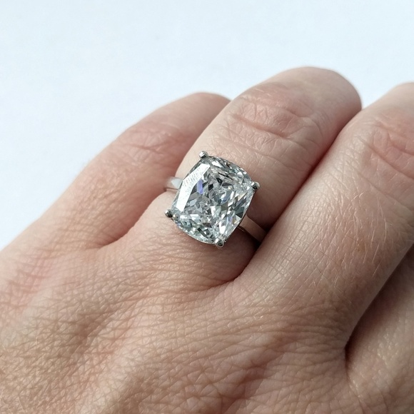 Cz Simulated Diamond Cushion Cut Engagement Ring Boutique